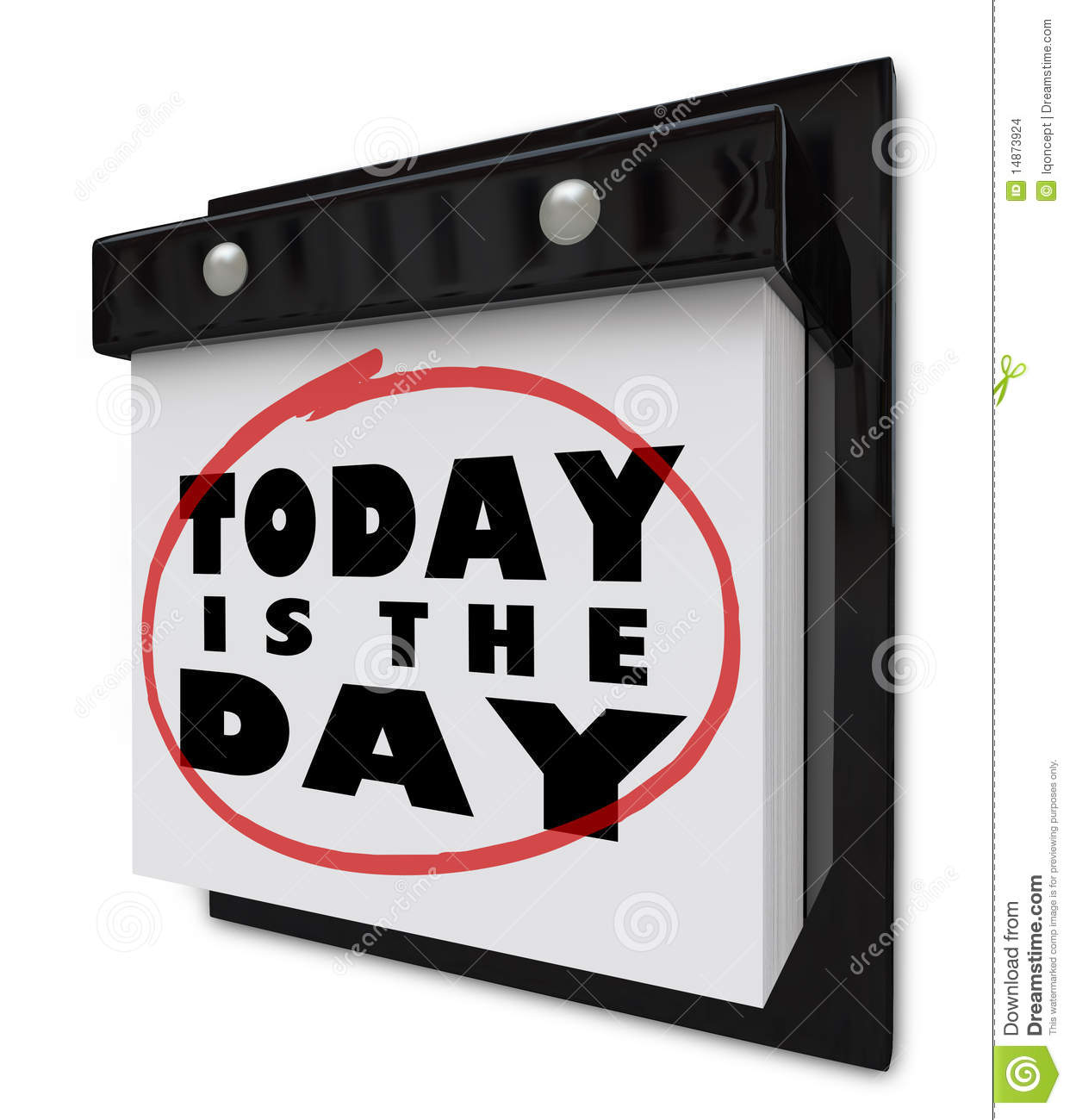 Today Is The Day Wall Calendar Stock Illustration Illustration
