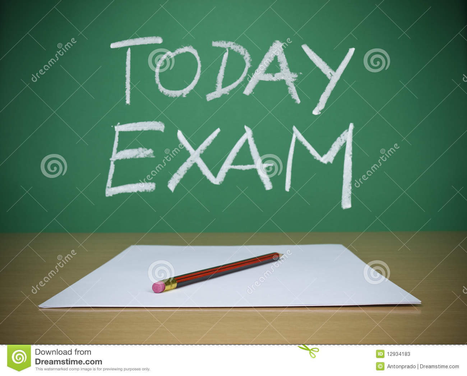 Today Exam Stock Image Image Of Form Desk Exam Educate