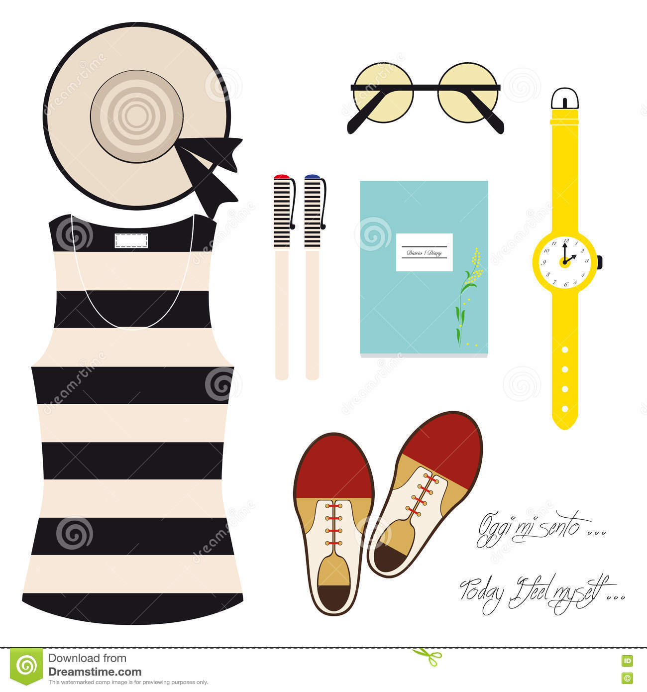 Today I dress well stock vector  Illustration of shoes