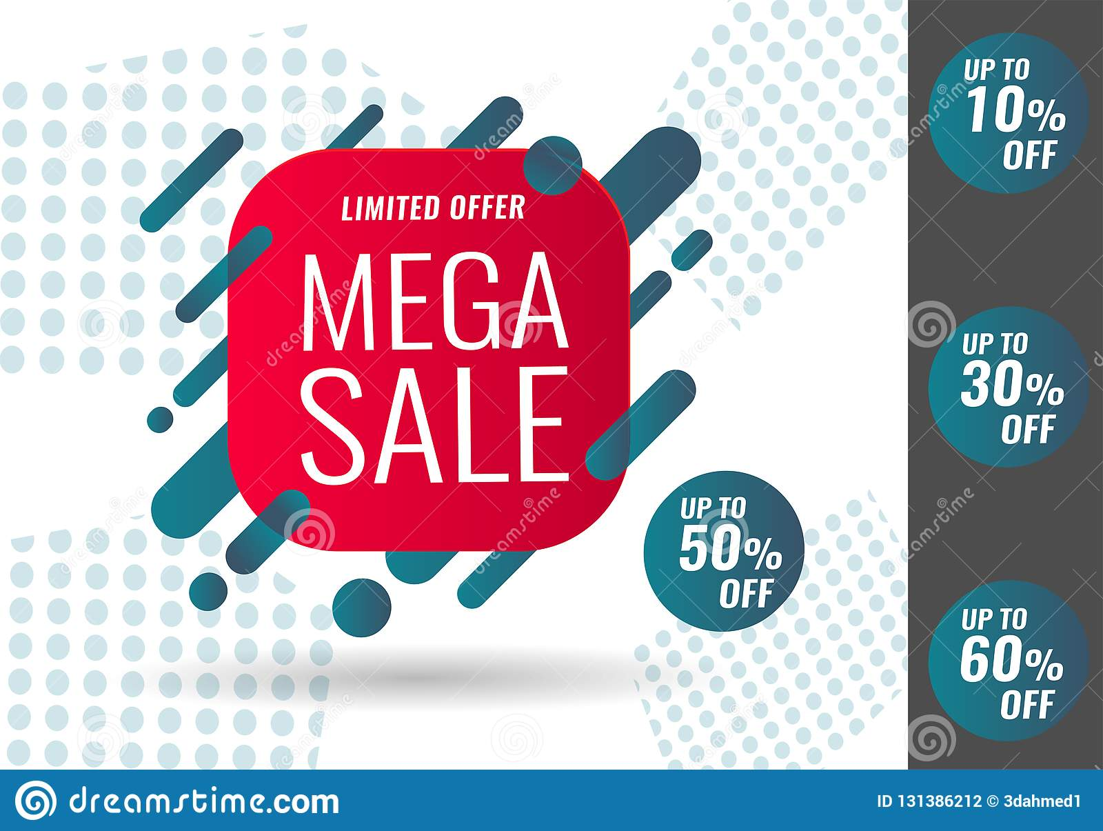 attraktiver Stil Ausverkauf Schuhwerk Today Only Mega Sale Banner. Vector Illustration Stock ...
