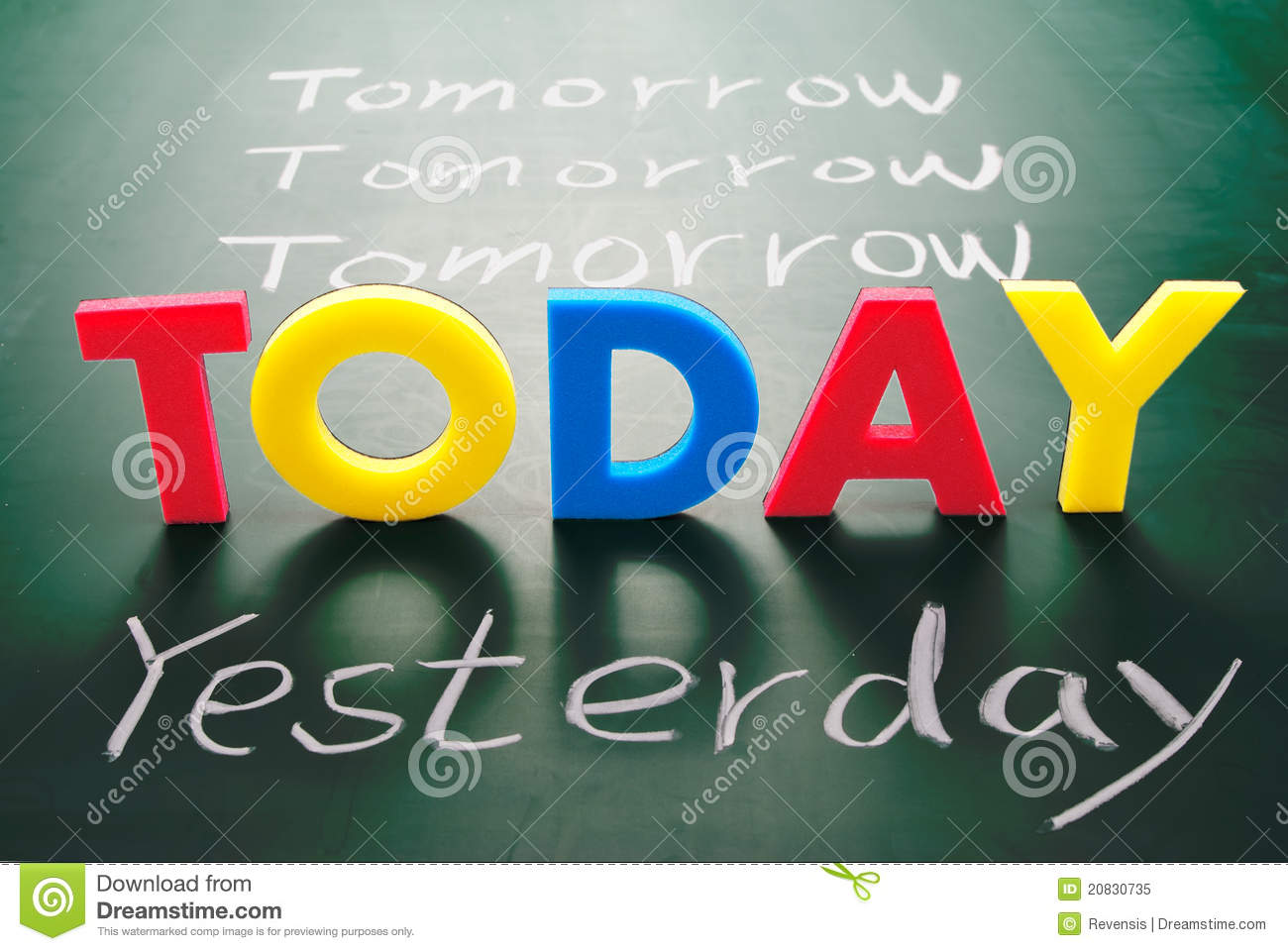 Today, yesterday, and tomorrow
