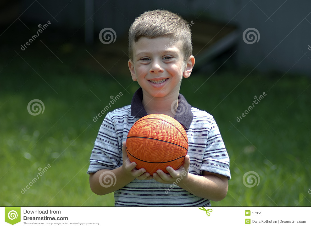 Toddler With Ball