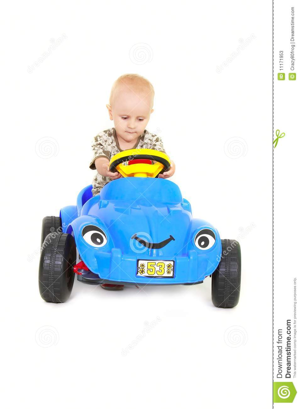 Baby Boy Toy Cars : Toddler boy driving a toy car stock photos image