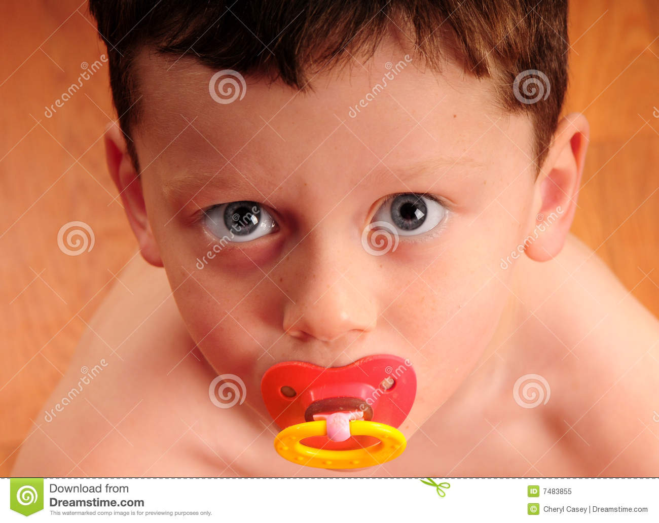 toddler boy with pacifier stock image image of comfort 7483855