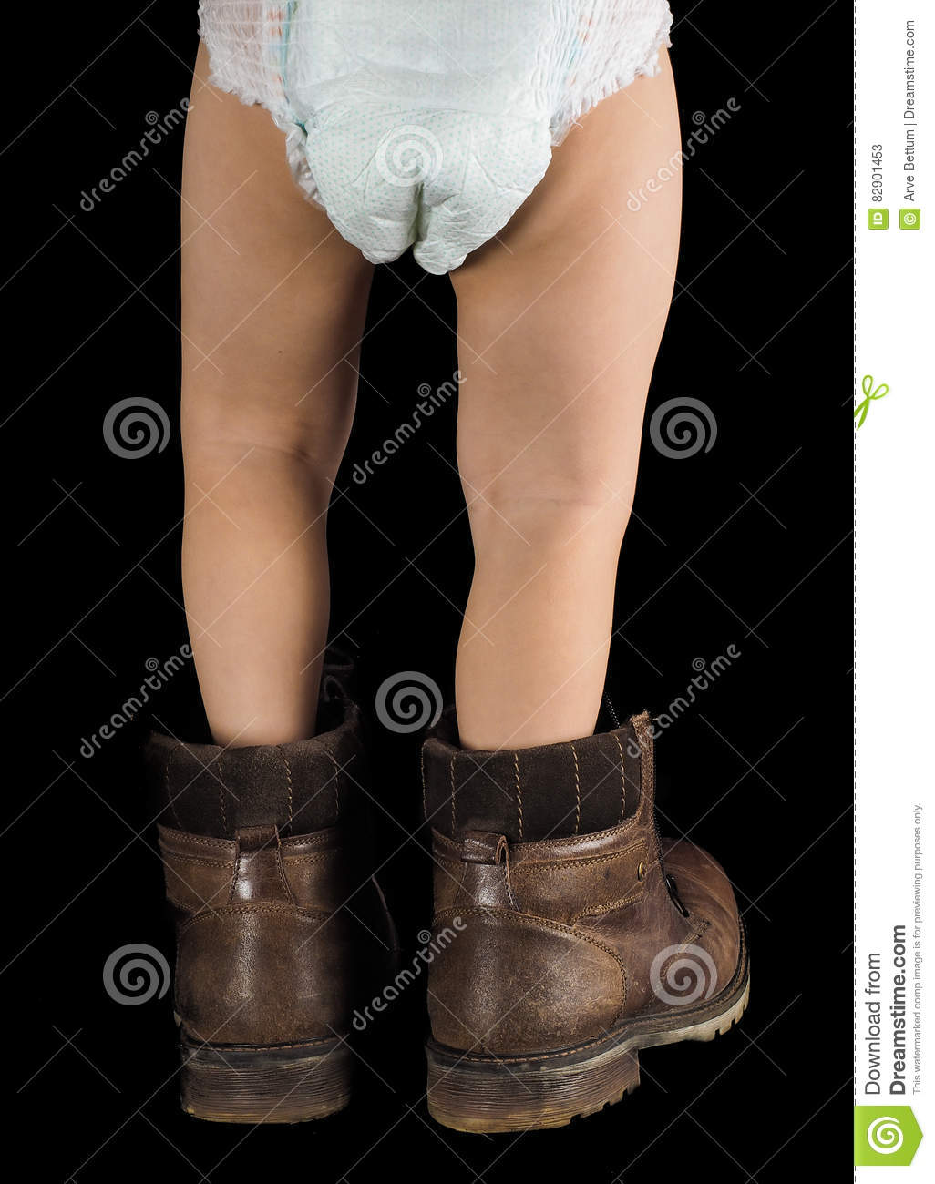 Background image too big - Toddler Boy Walking Away Towards Black Background In Too Big Boots