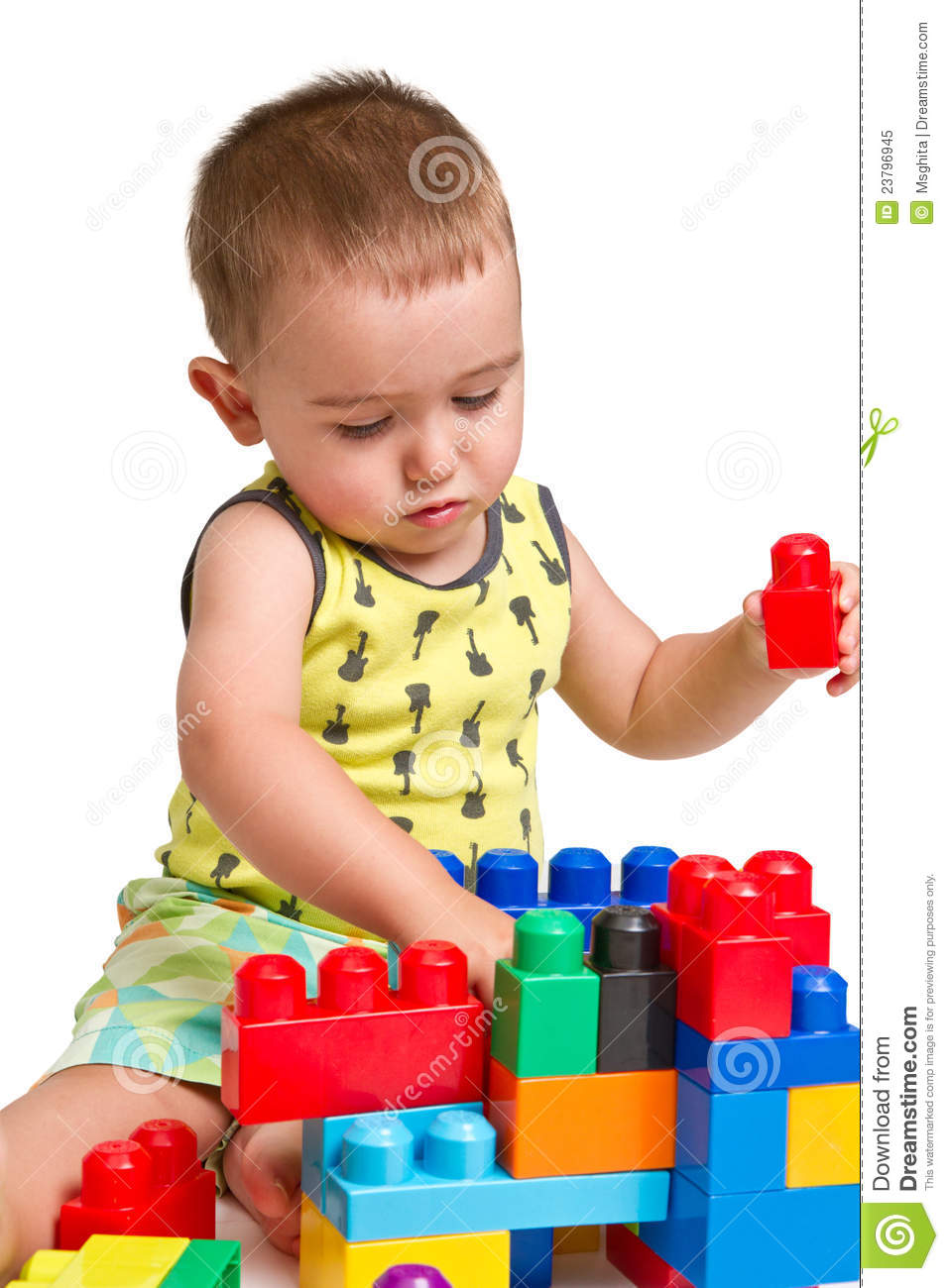 Toy Castles For Toddler Boys : Toddler building a castle royalty free stock photo image