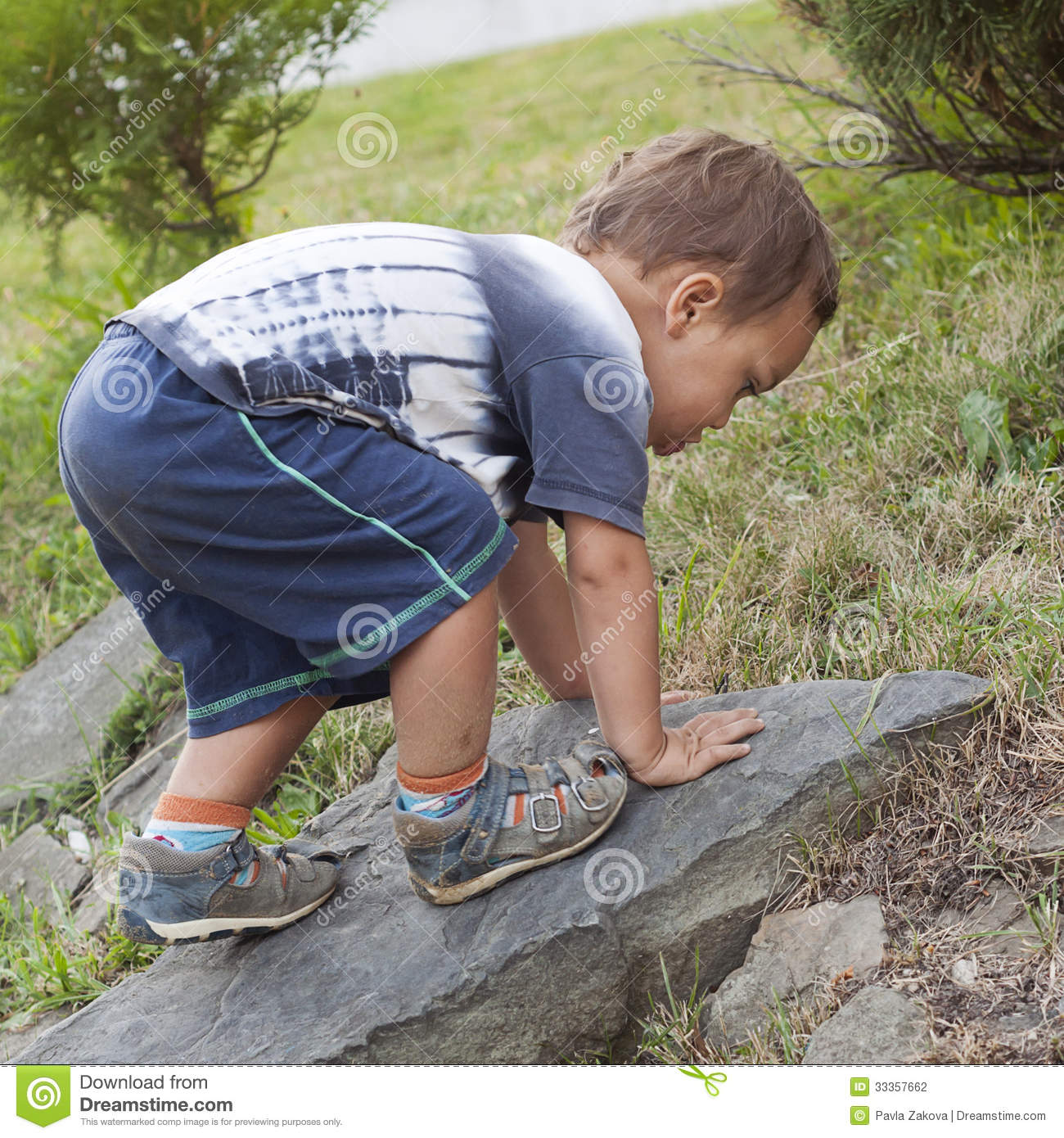 Toddler Child Climbing Stock Photo Image Of Cute