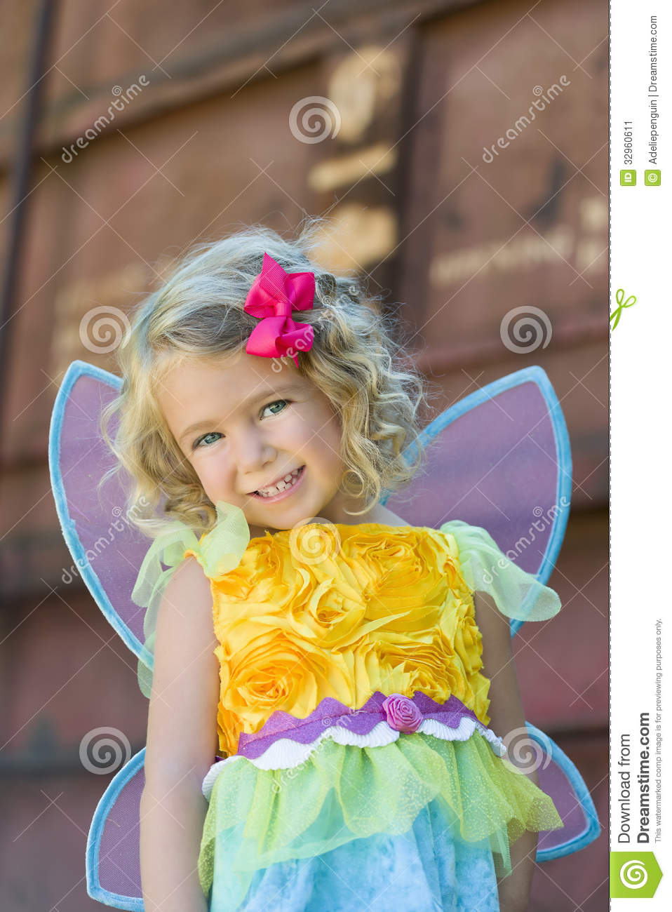 Download comp  sc 1 st  Dreamstime.com & Toddler In Fairy Halloween Costume Stock Image - Image of green ...