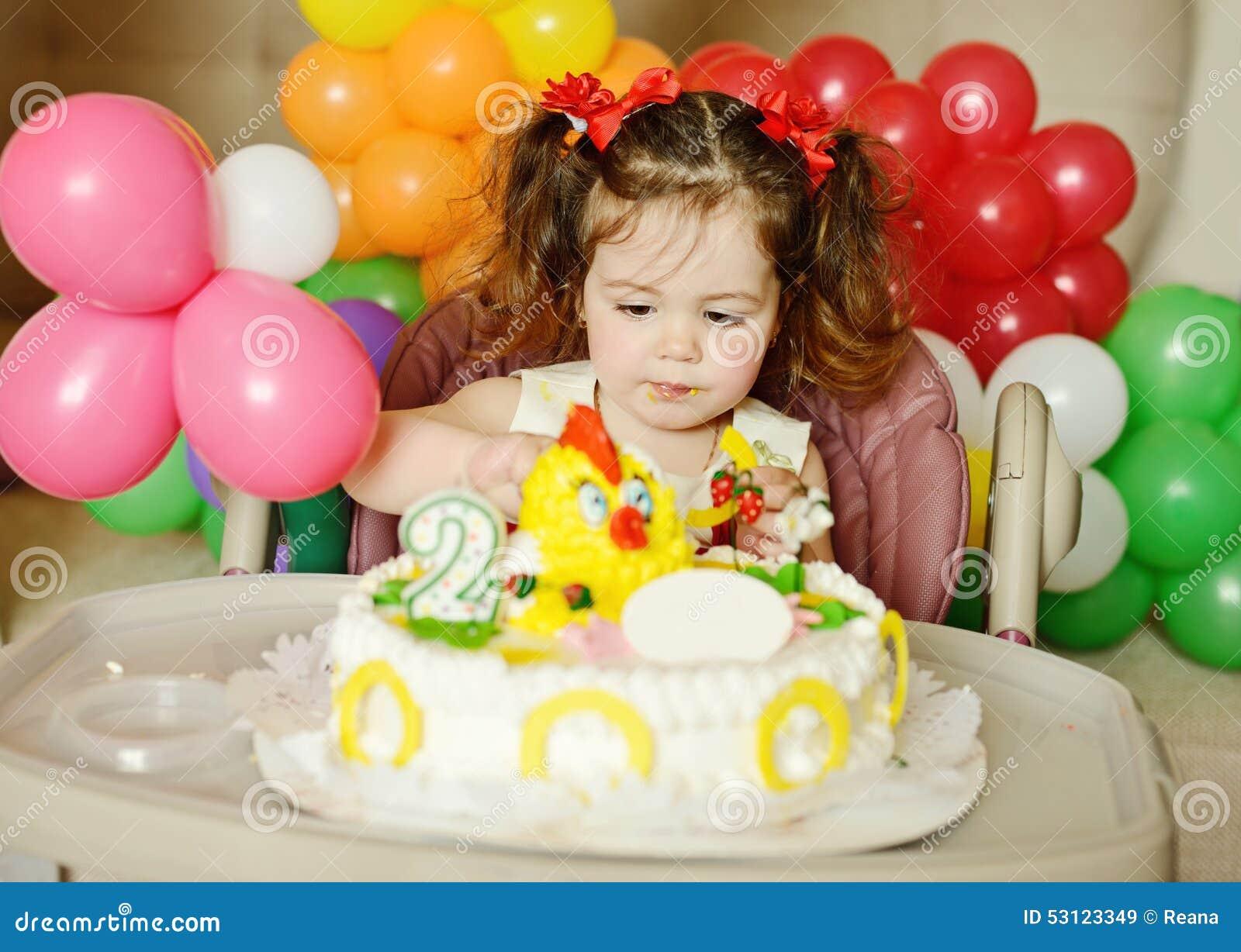 Phenomenal Toddler Girl With Birthday Cake Stock Image Image Of Female Birthday Cards Printable Benkemecafe Filternl