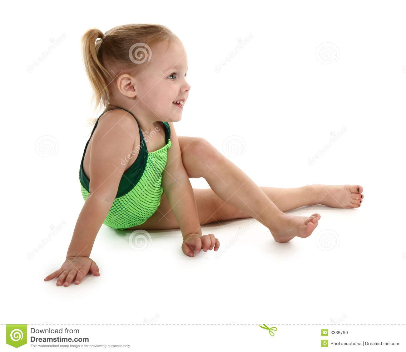 Toddler Girl In Leotard Stock Photo