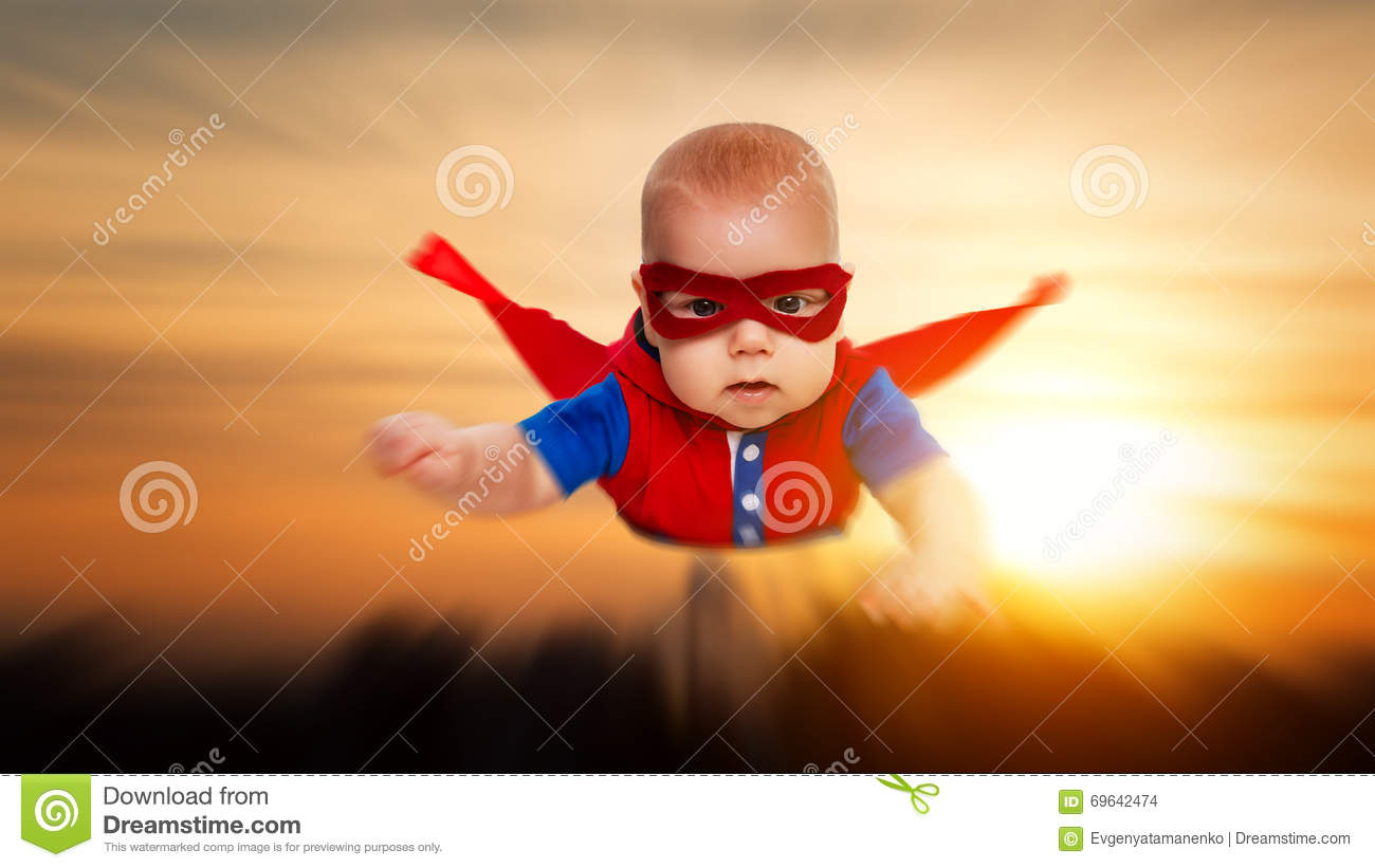 toddler little baby superman superhero with a red cape Superhero Cape Flying Clip Art Superhero Cape Flying Clip Art