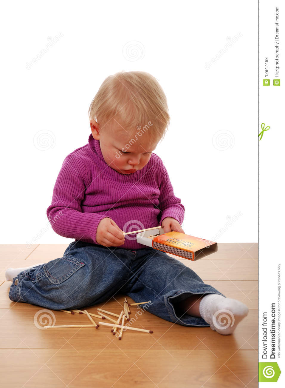 Toddler Playing With Matches Royalty Free Stock Photos - Image ...