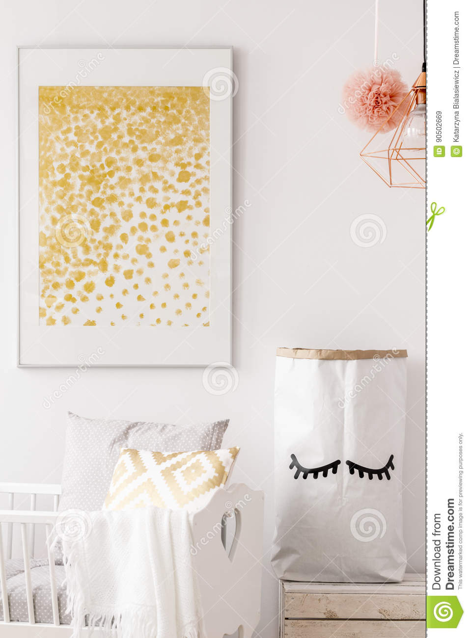 Toddler room with white cradle