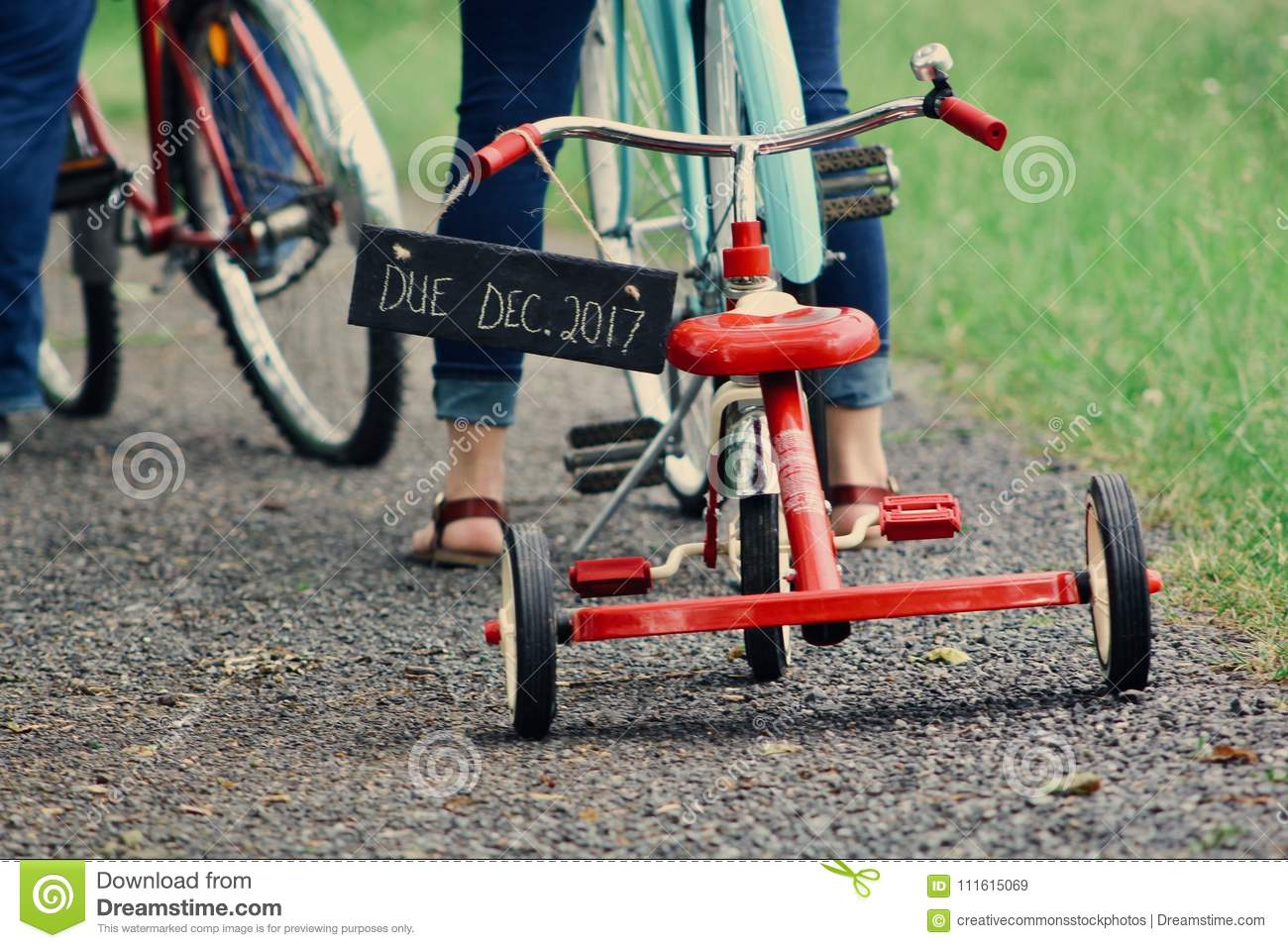 69faf73d1f0 Toddler's Red Tricycle. Public Domain image. Toddler's Red Tricycle ...