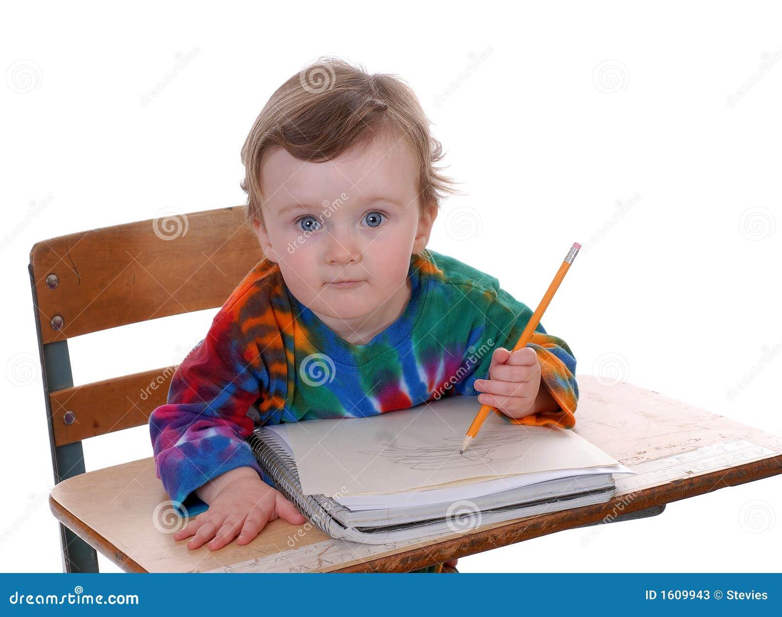 School Boy Sitting at Desk 1300 x 1043