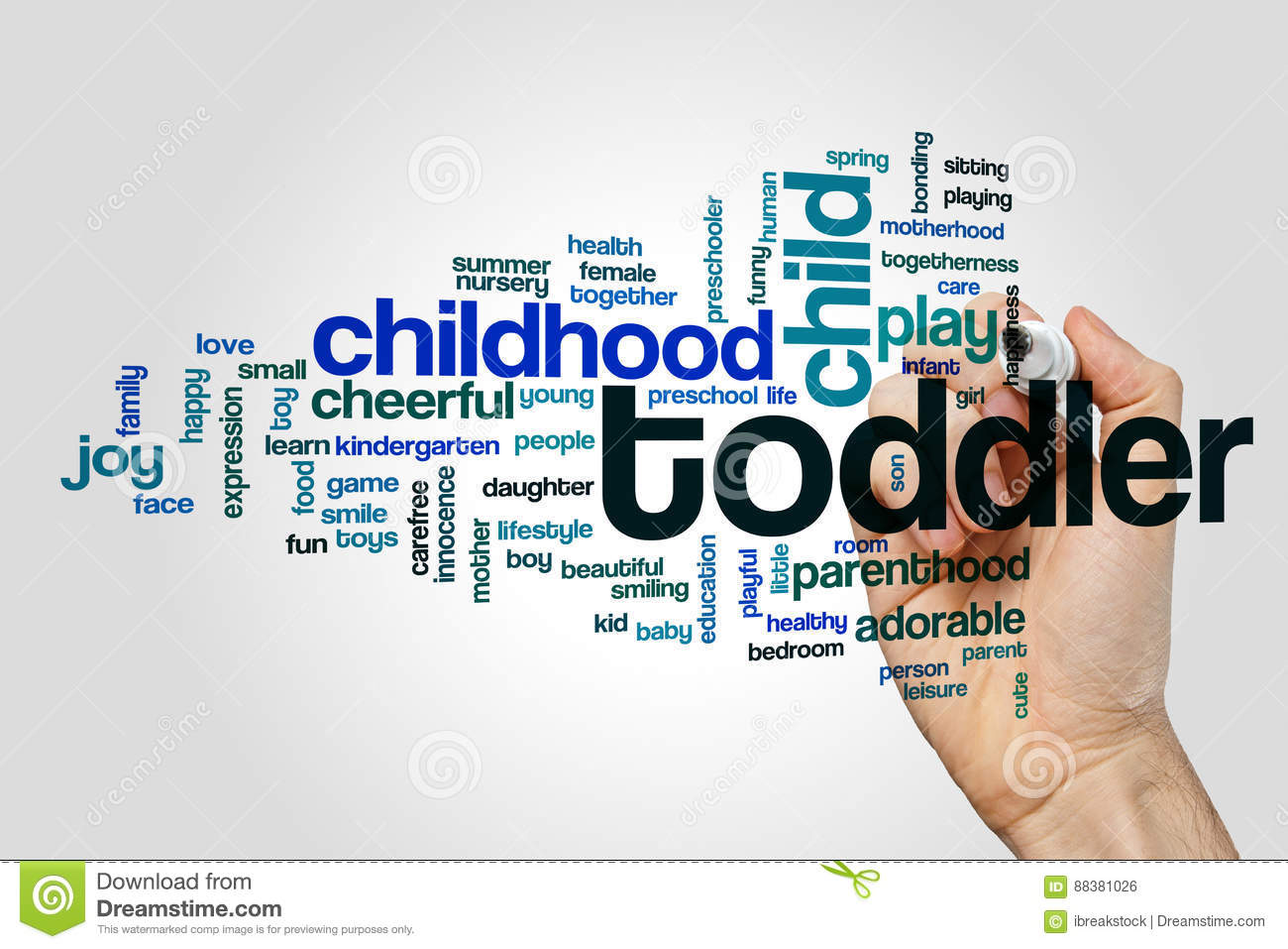 Toddler word cloud
