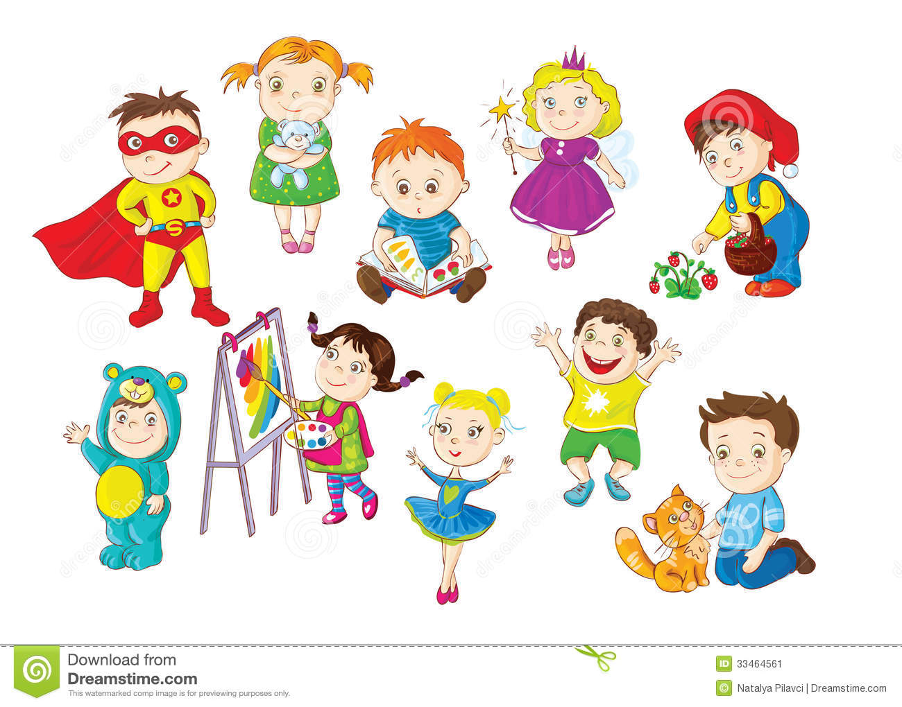 Toddlers Activities Stock Image - Image: 33464561