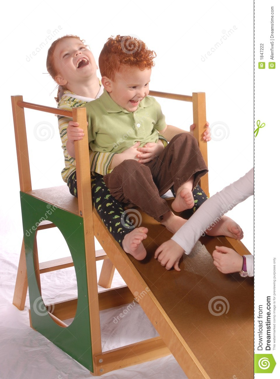 Captivating Boy Brother Indoor Redheaded Sister Slide ...