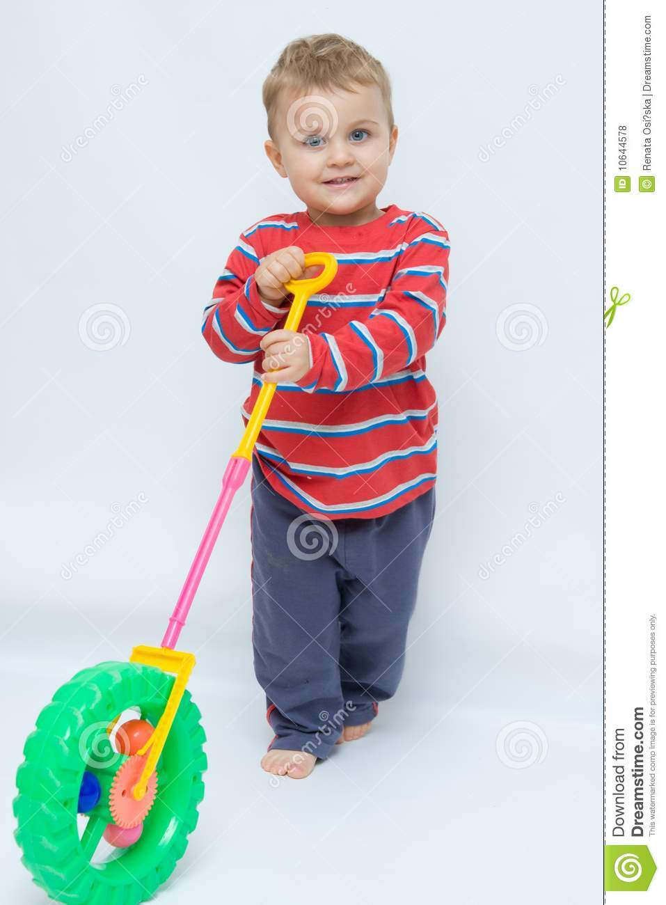 toddlers toys stock photo image of pushing cute bare 10644578
