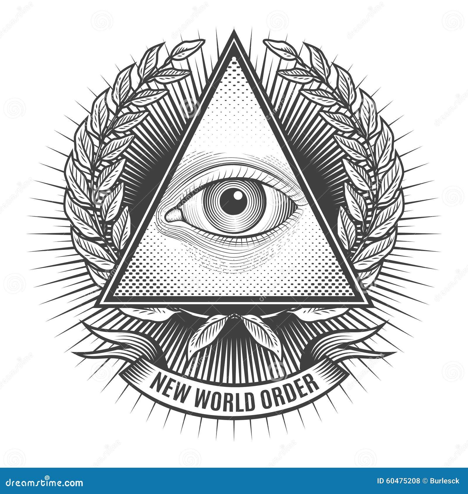 70896cbdd78c7 Todo el ojo que ve en triángulo del delta Pirámide e icono de la  francmasonería