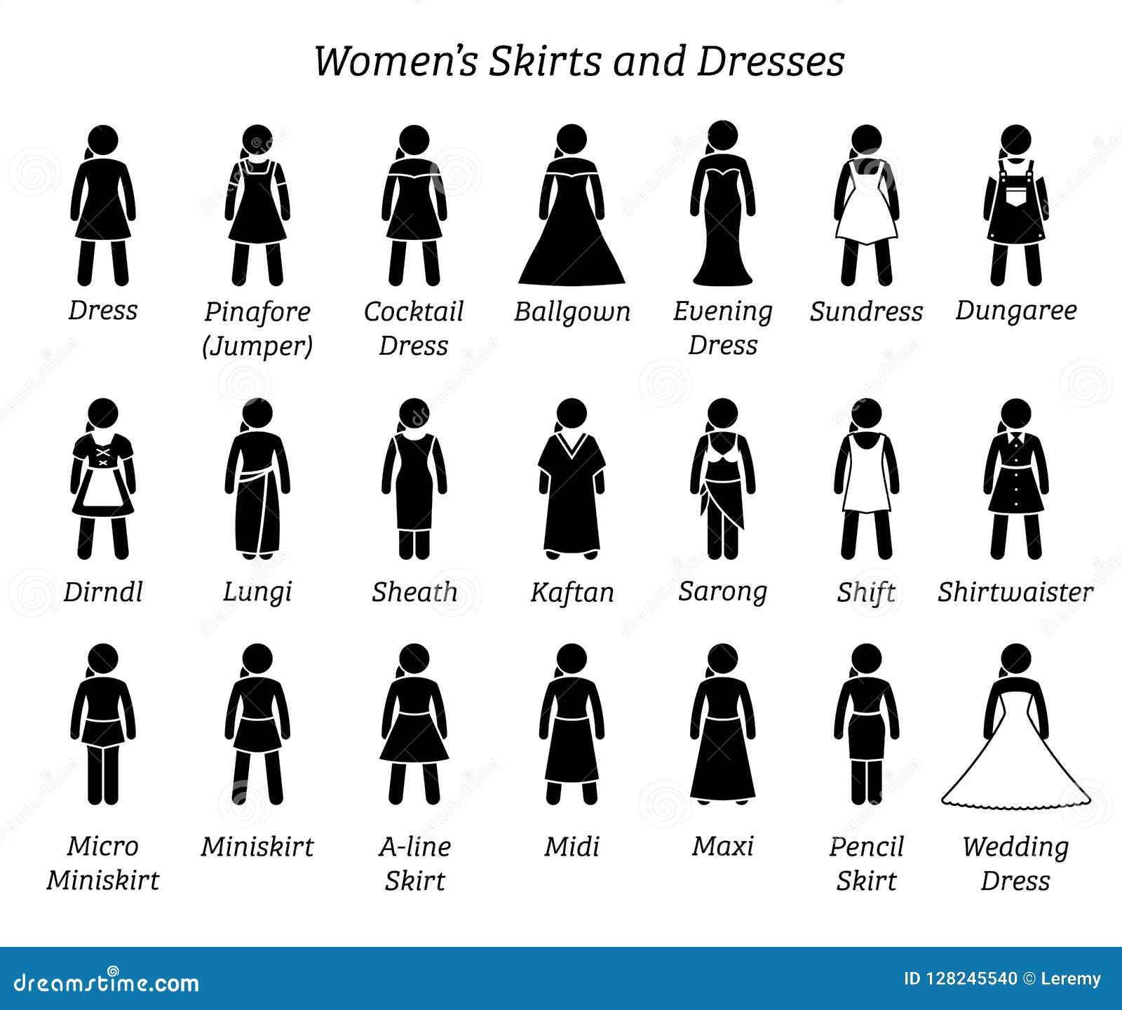 Todos Los Diseños De Las Faldas Y De Los Vestidos De Las
