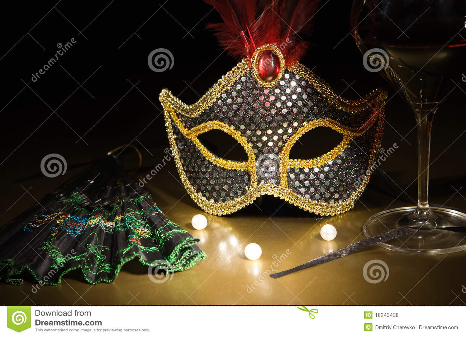 Toebehoren voor de maskerade