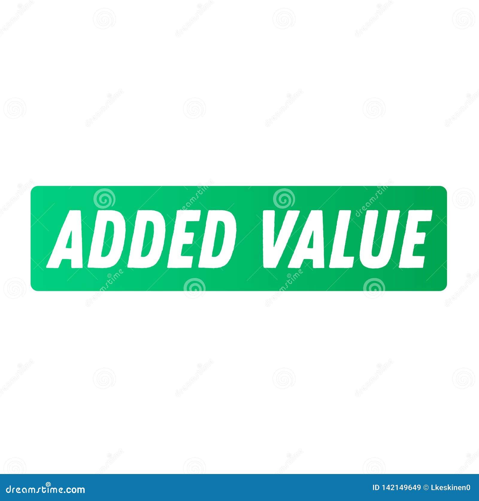 Toegevoegde waarde reclamesticker