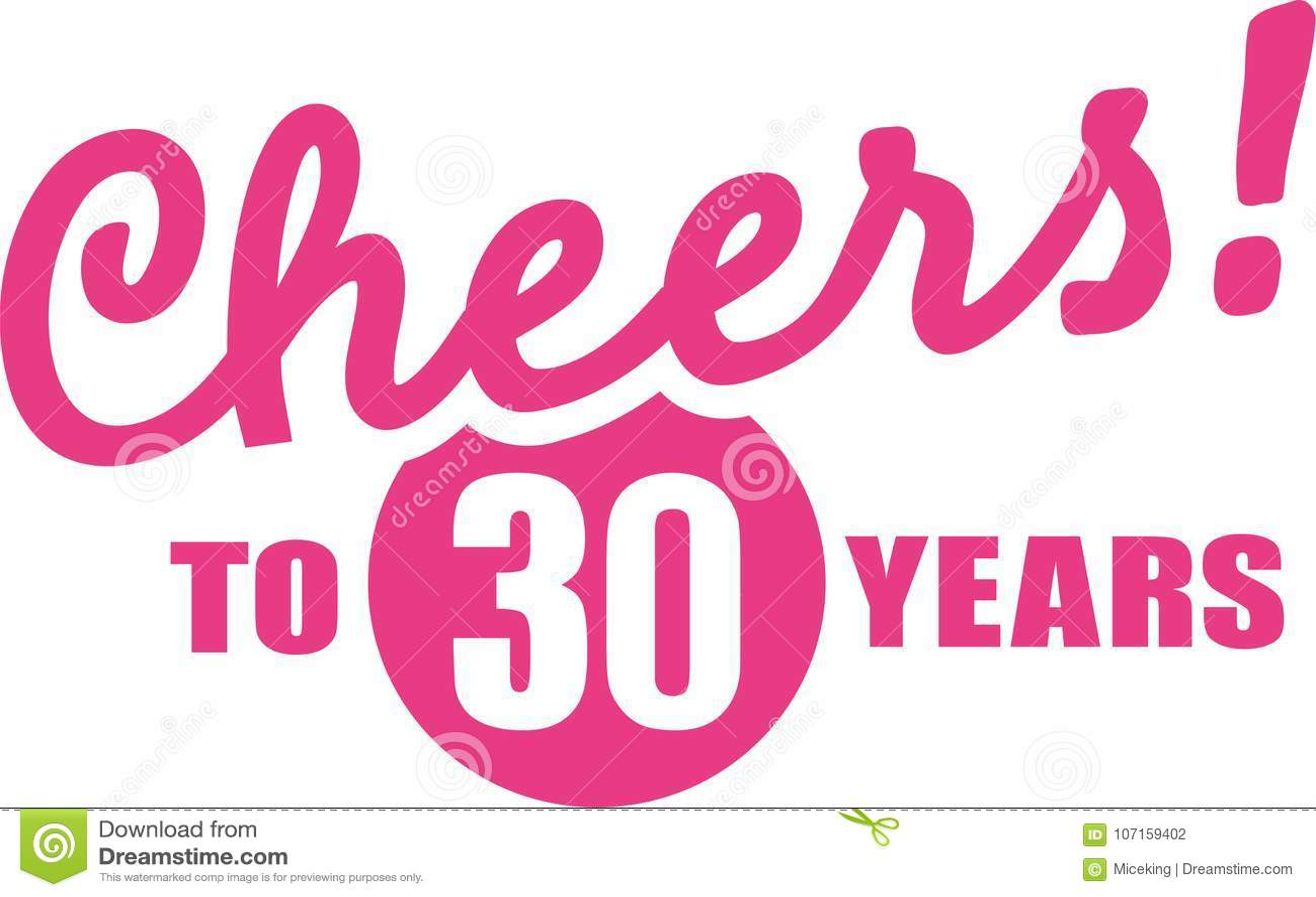 Toejuichingen Aan 30 Jaar 30ste Verjaardag Vector Illustratie