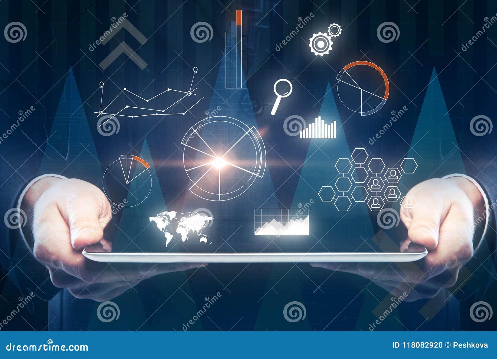 Toekomst, communicatie en financiënconcept