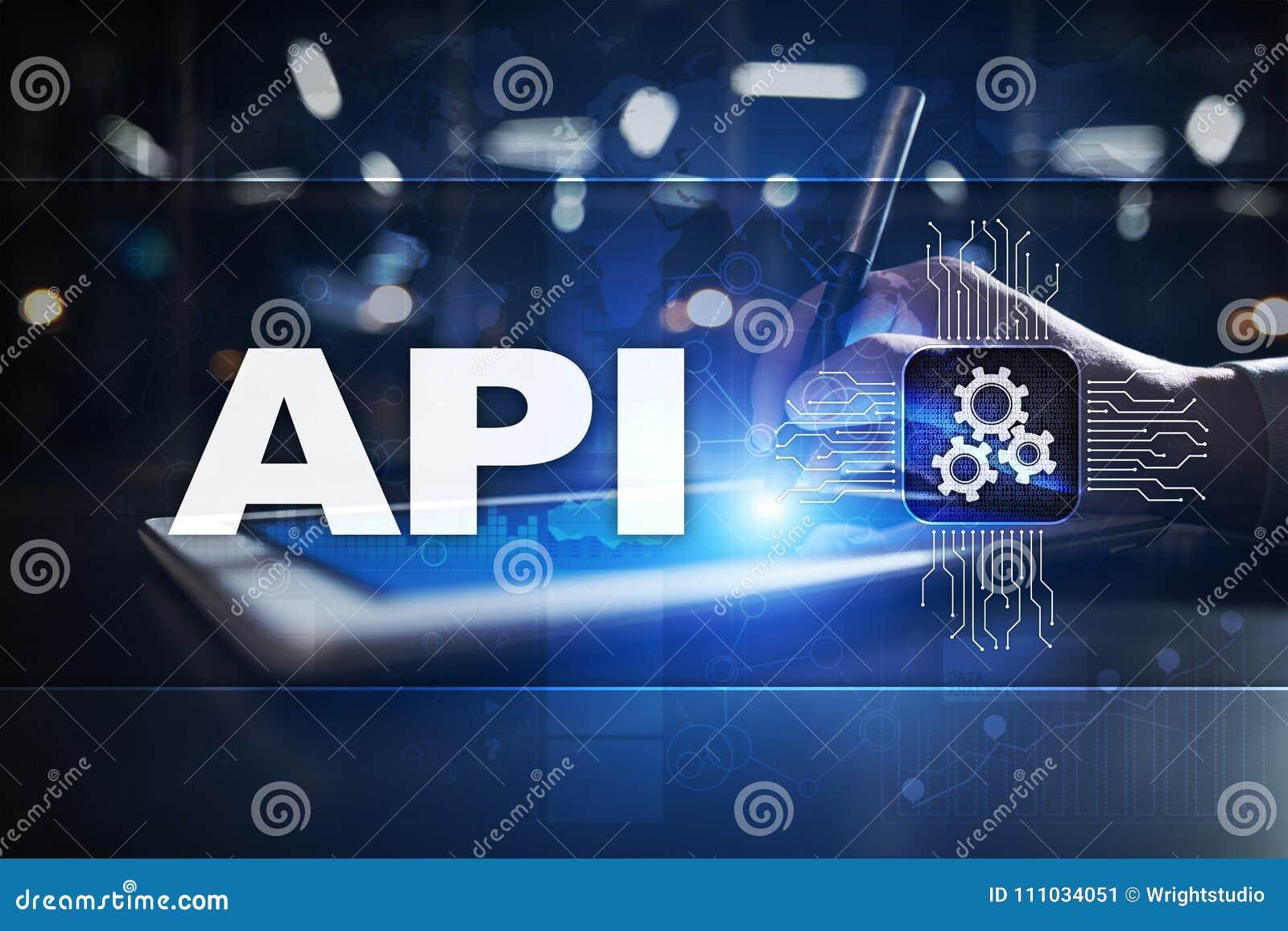 Toepassing programmeringsinterface API Software-ontwikkelingconcept