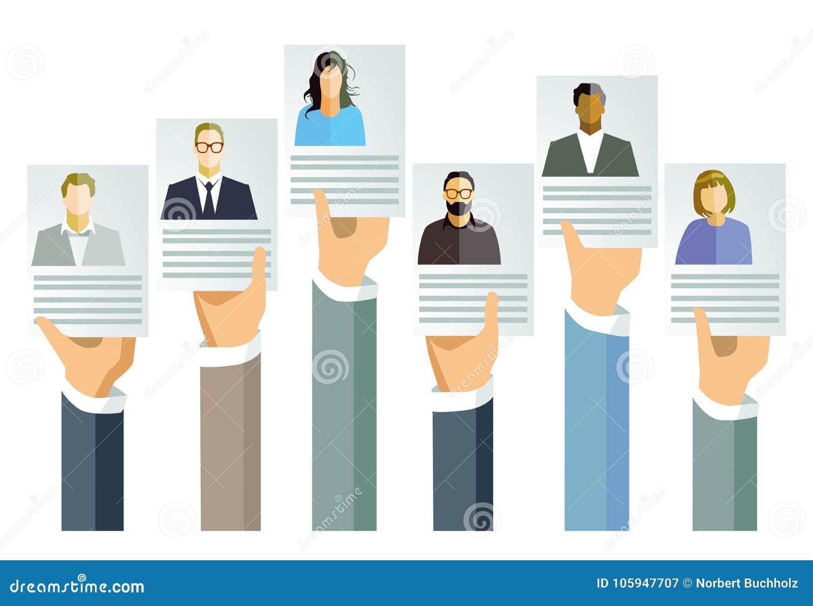 Toepassing voor baan en aanbieding