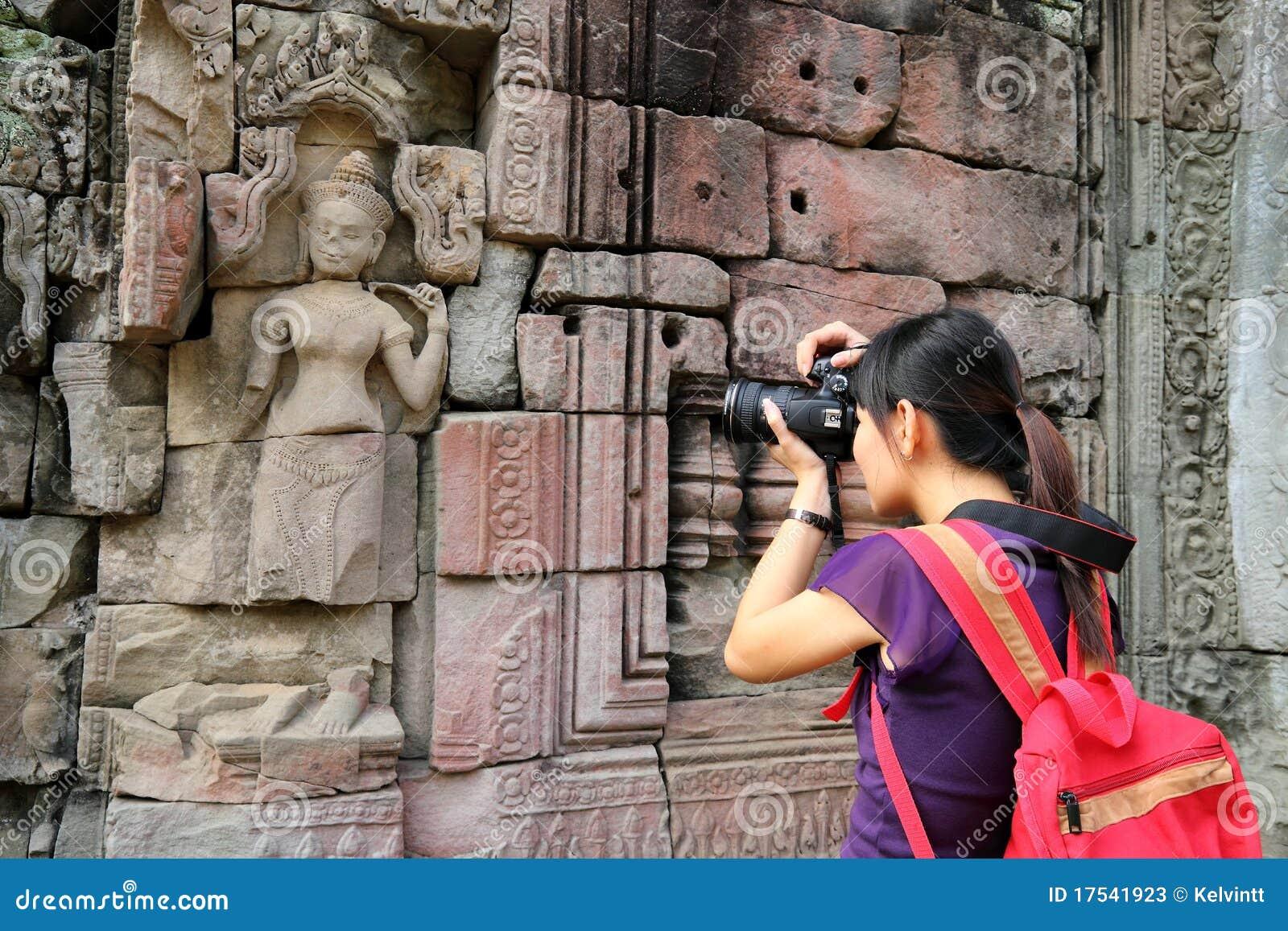Toerist in Angkor Wat