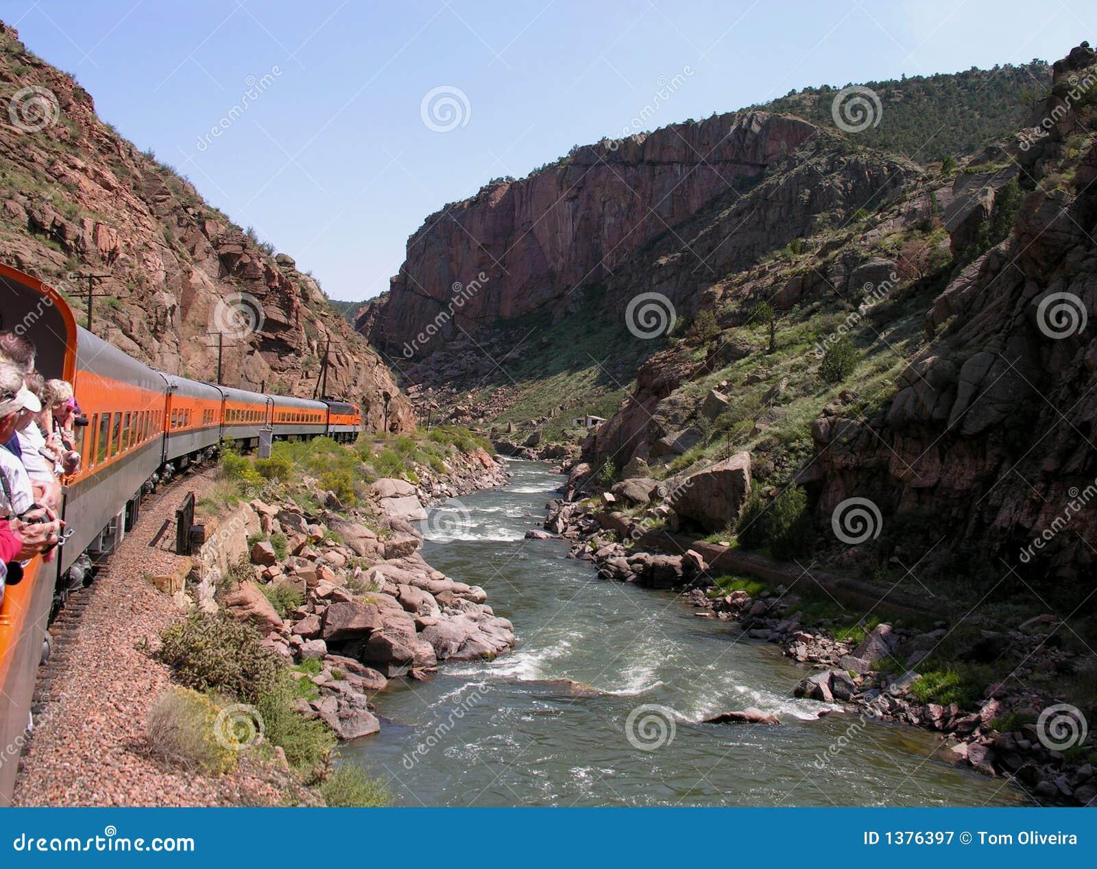 Toerist op trein