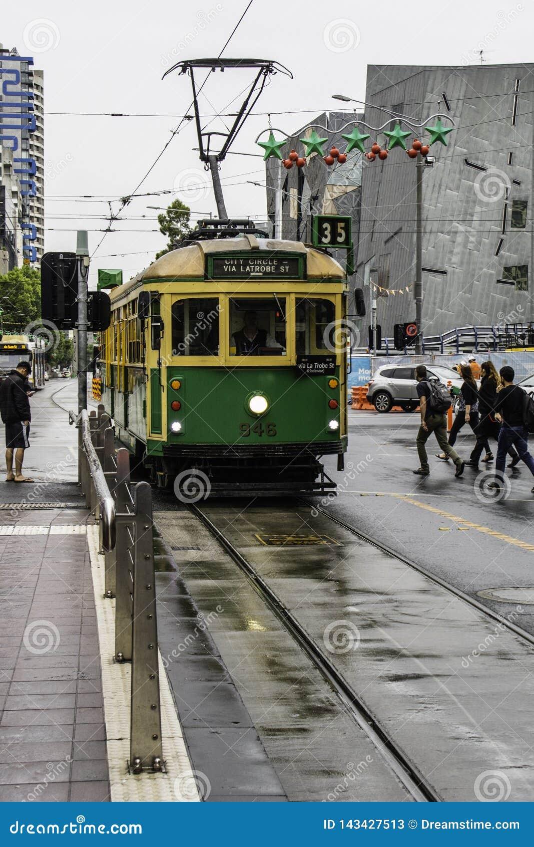 Toeristentram 35 in Melbourne in Australi?
