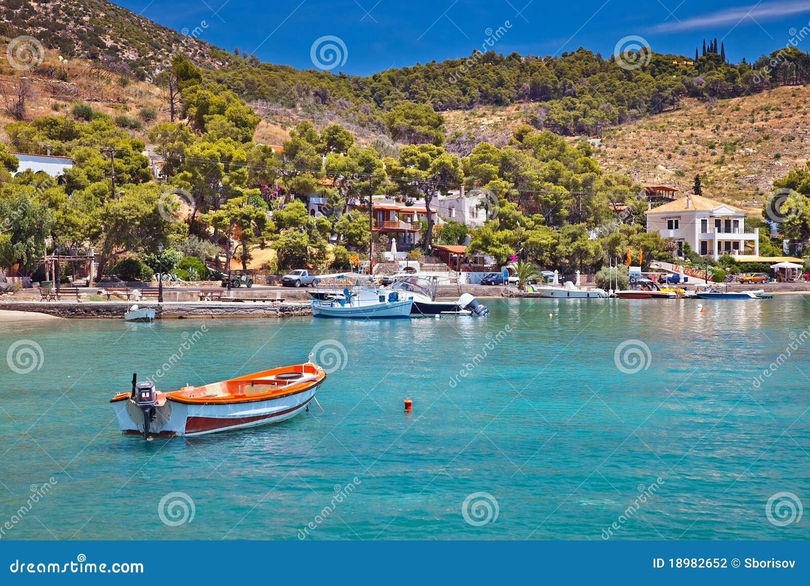 Toeristisch gebied op Poros