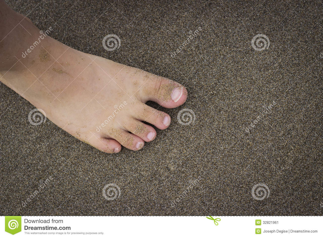 toes on the beach stock image. image of shore, bare, recreation