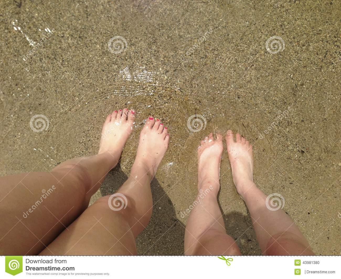 toes in the sand stock photo. image of golden, looking - 43981380