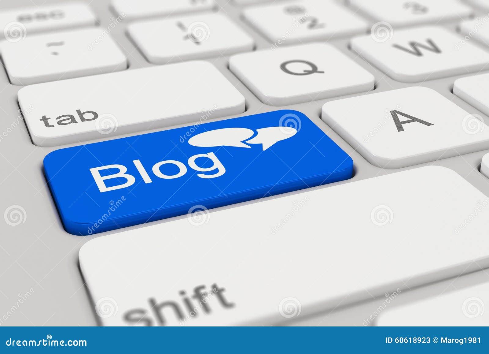 Toetsenbord - Blog - blauw