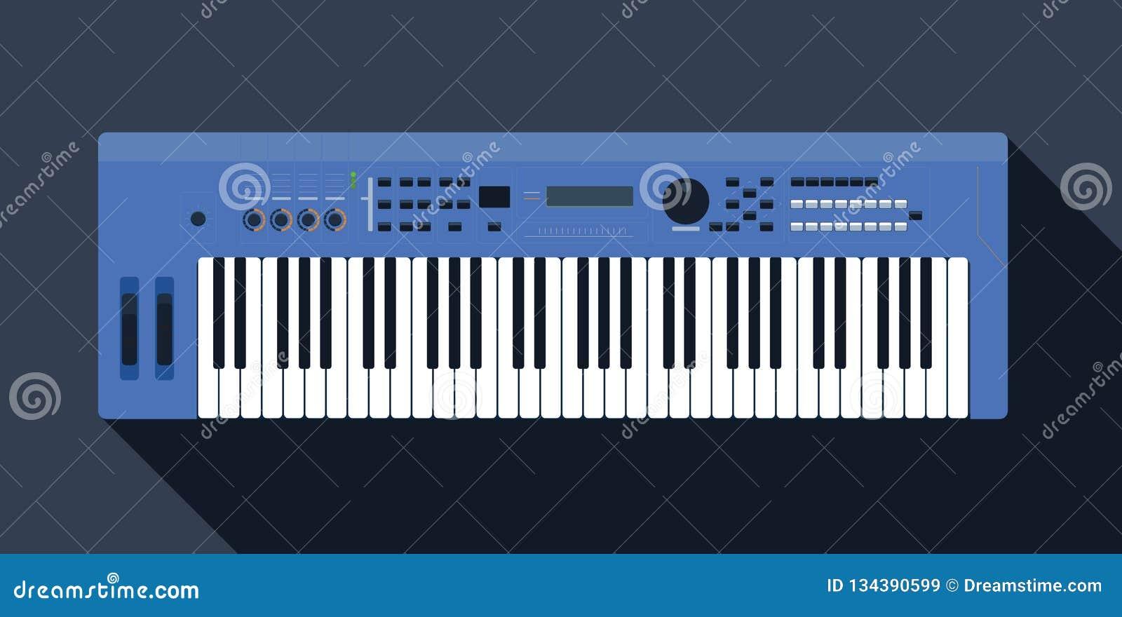 Toetsenbord piano op een roze achtergrondvoorraad vectorillustratie voor affiche, muziekprestaties, jazzfestival