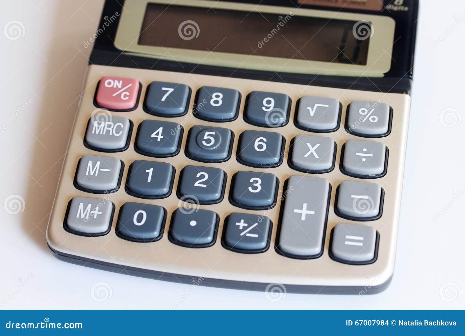 Toetsenbordcalculator met gegevensverwerking