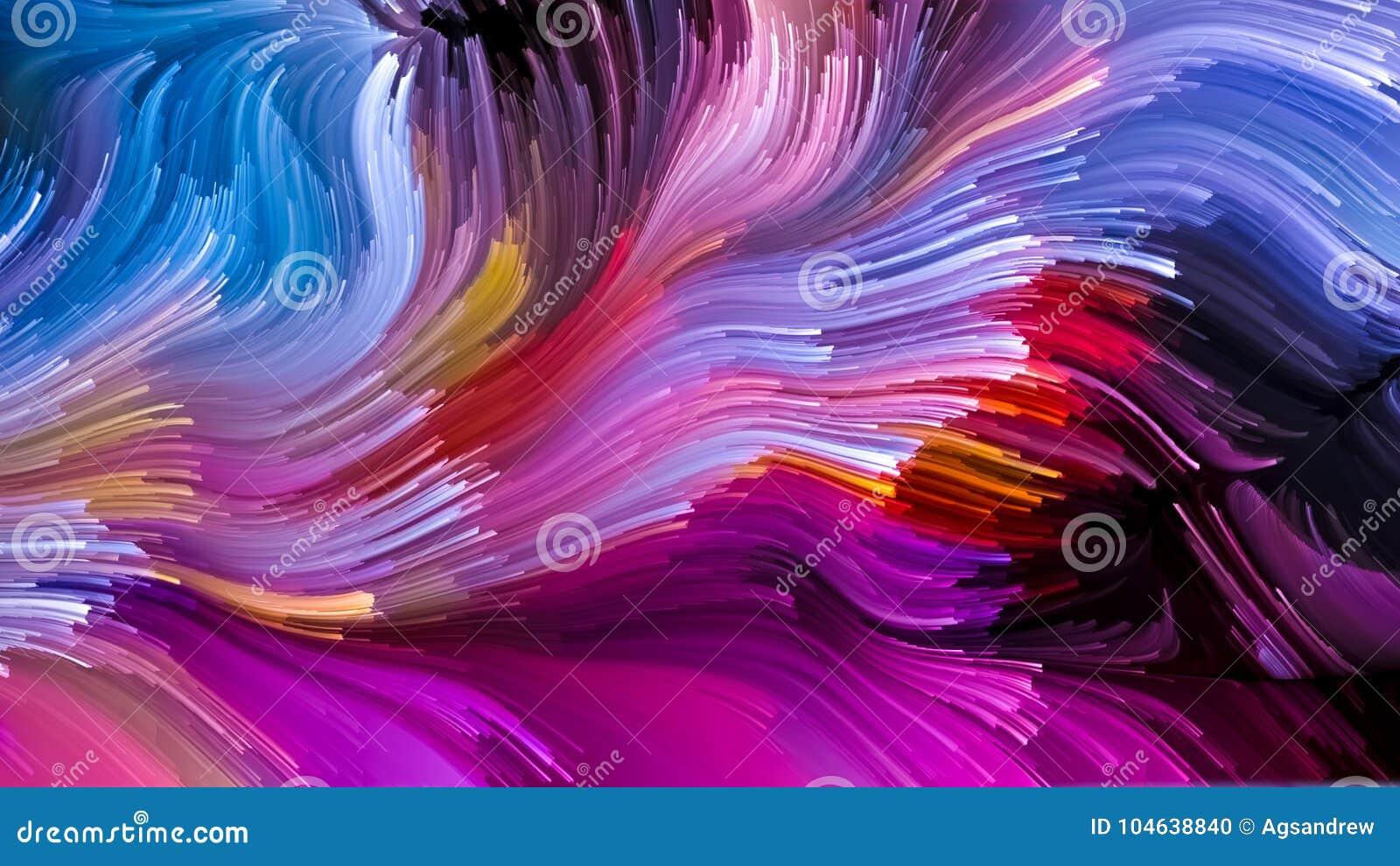 Toevallige Vloeibare Kleur