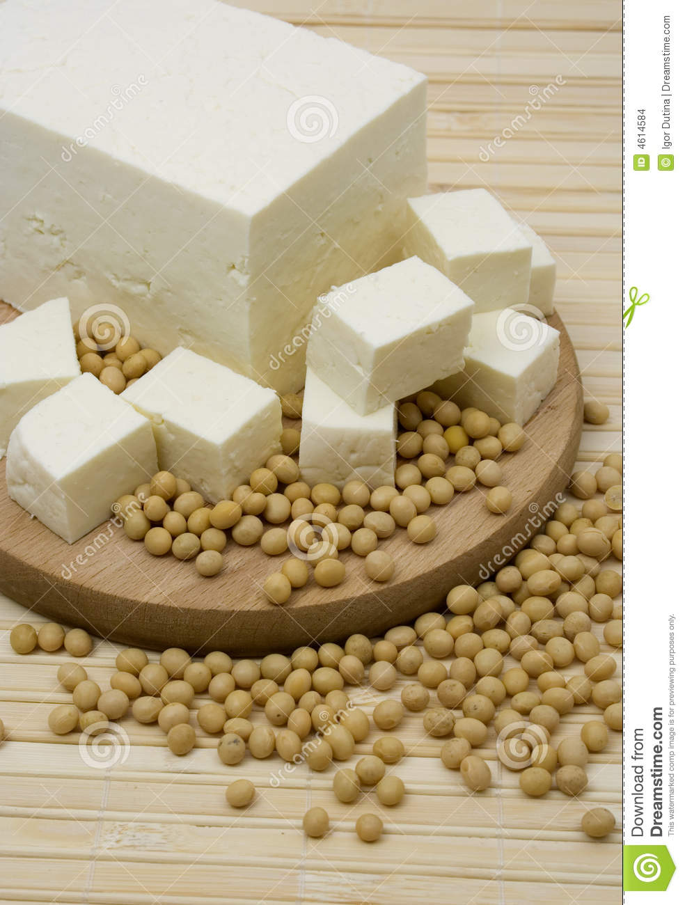 Tofu cheese and soy beans stock photo. Image of soybean