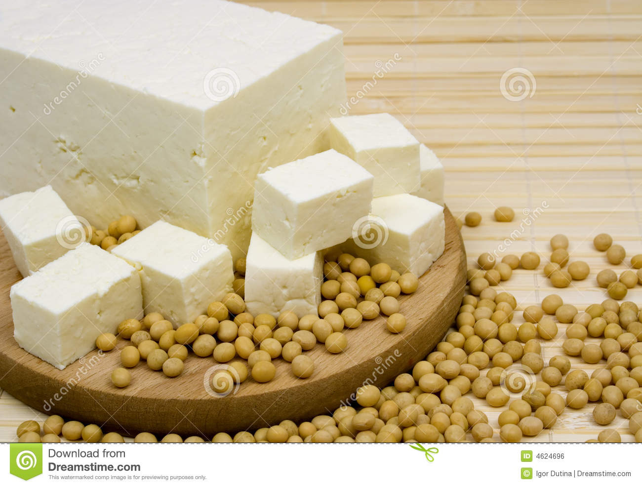 Tofu Cheese And Soy Beans Royalty Free Stock Image - Image: 4624696