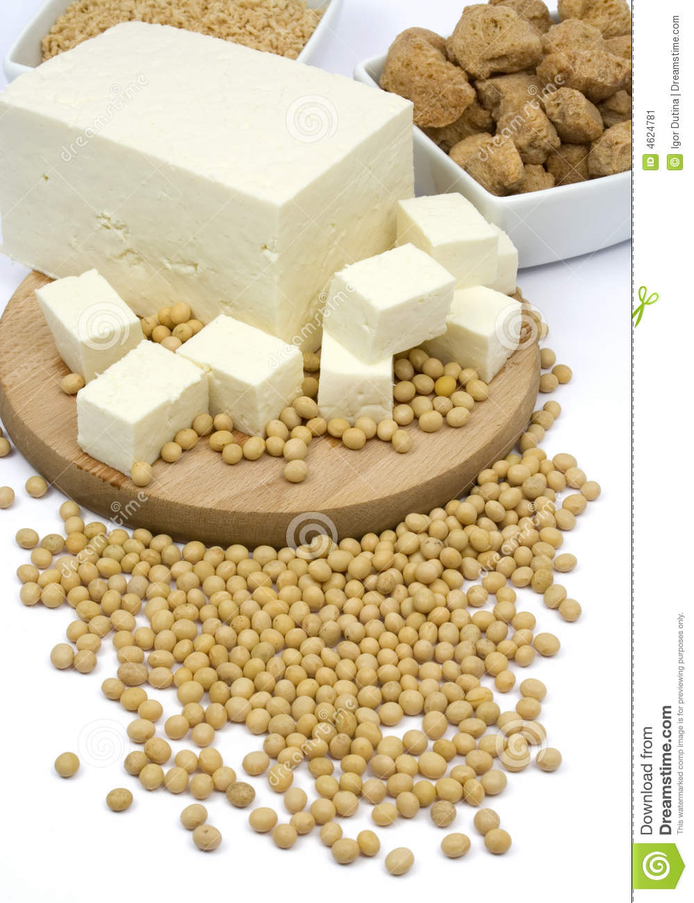 Tofu Cheese And Soy Beans Stock Image - Image: 4624781