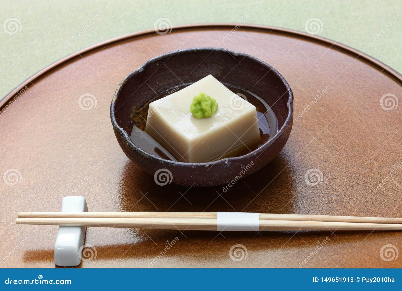 Tofu Fait Maison De S?same, Cuisine Traditionnelle Japonaise De Vegan Image stock - Image du ...