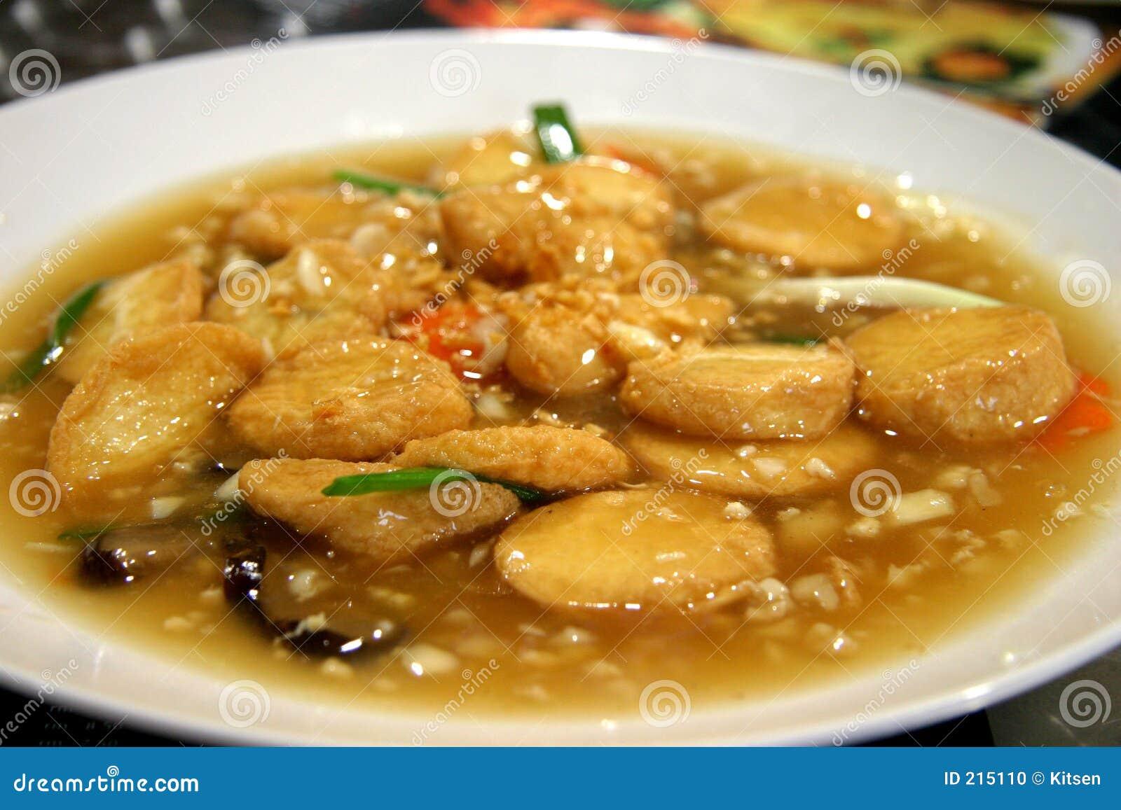 Tofu molle con il fungo