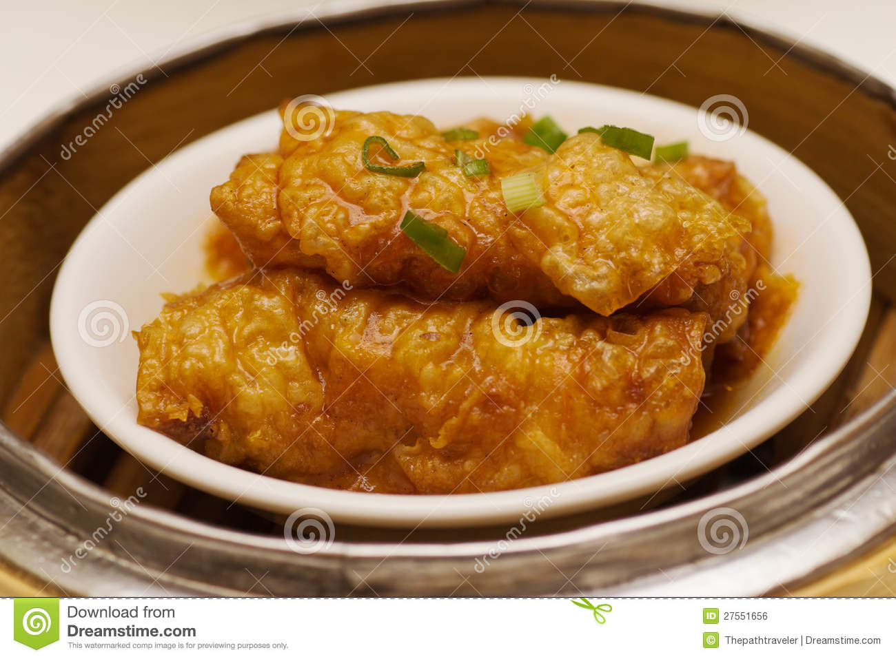 Tofu Skin Roll Royalty Free Stock Image - Image: 27551656