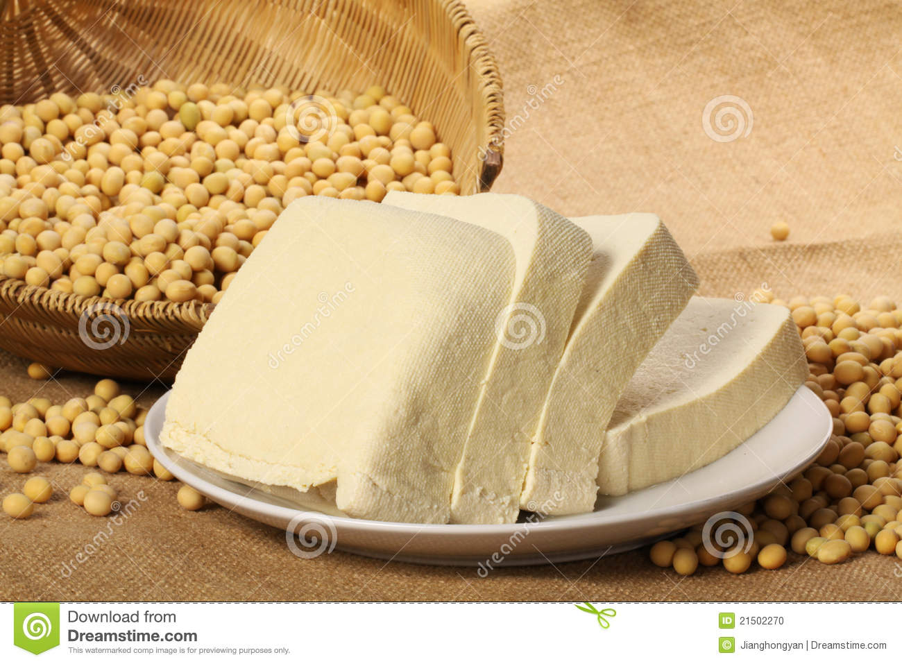 Tofu And Soy Beans Stock Photo Image 21502270