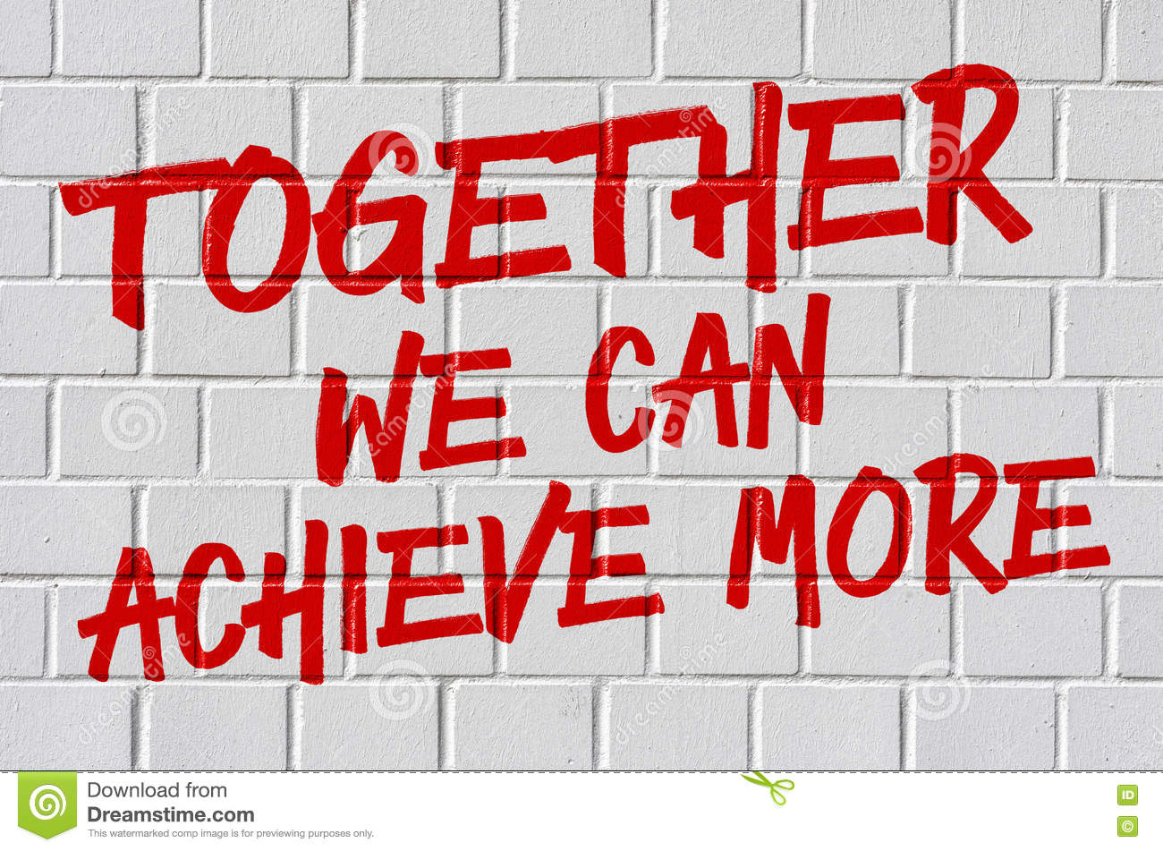 Together we can do more slogan