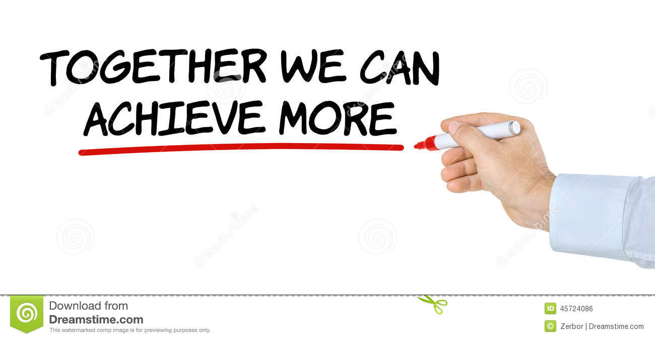 together we can achieve more stock illustration illustration of